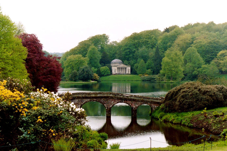 Stourhead House And Gardens Wiltshire Idyllic England