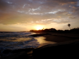 Indian Ocean sunset at Turtle Bay