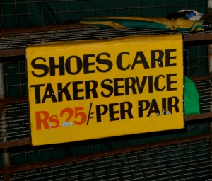 No shoes allowed, best deal in town