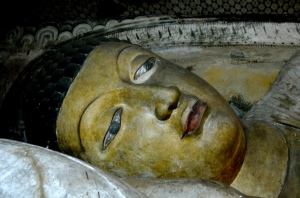 close up reclining Buddha