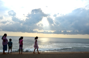 sunset, Galle Face Green, Colombo