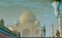 reflection of the Taj