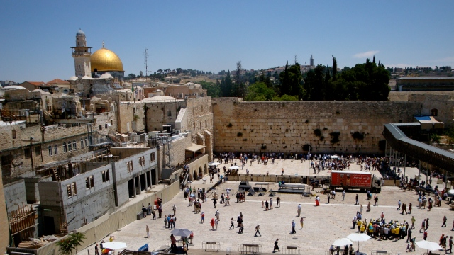 view of the Temple Mount and Western Wall