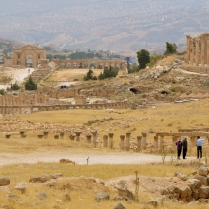 view of Hadrian's Gate and Temple of Zeus, Jarash