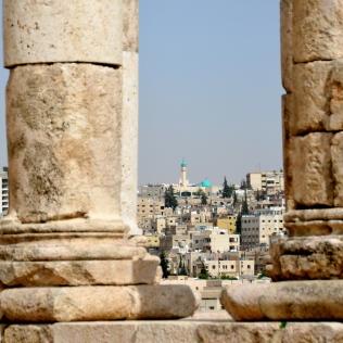 Temple of Hercules, view of Amman