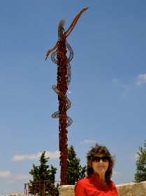 symbolic bronze serpent on a cross, Mount Nebo