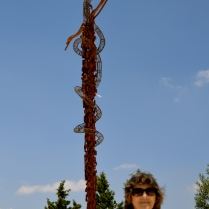 symbolic bronze serpent on a cross, Mount Nebo