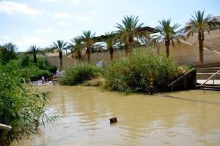 very, very close to the Israeli Pilgrims across the Jordan River