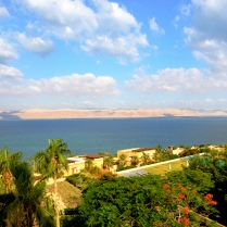 looking across Dead Sea, towards Israel