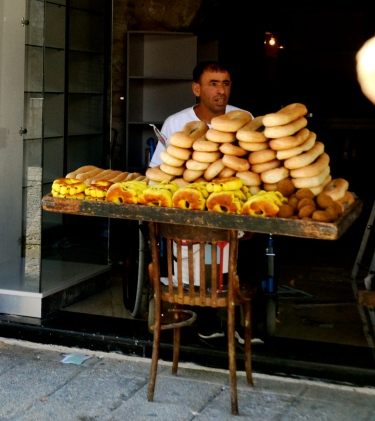 selling bread, Old City