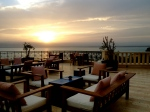 at dinner, view of Dead Sea