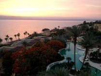 view of Dead Sea from Kempinski hotel
