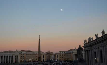 dusk, St. Peter's Square