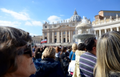 waiting for the Pope