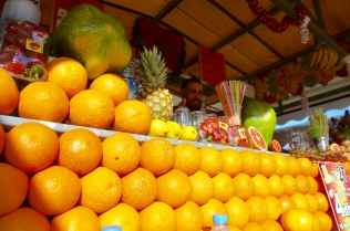 fresh orange juice, Plaza Djemaa El-Fna