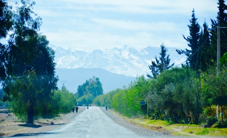 road to Mount Toubkal