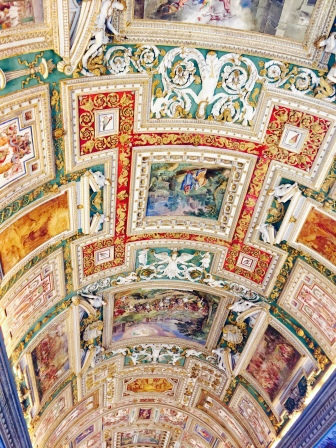 ceiling frescos, Gallery of Maps