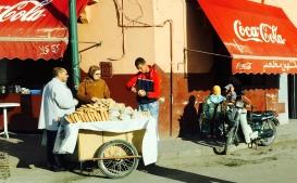 bread vendor, Plaza Djemaa El-Fna