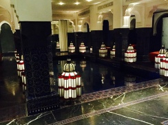 pool lanterns, La Mamounia