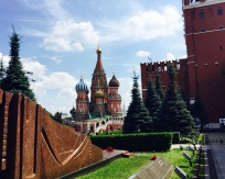 view of St. Basil's from mausoleum, Red Square
